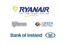 Collage of 2013 transactions: Ryanair, bank of Ireland, Mincon and Green Reit PLC.