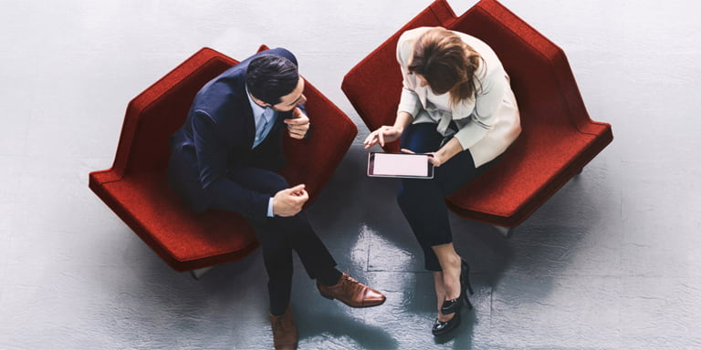 Davy Group image of two people consulting